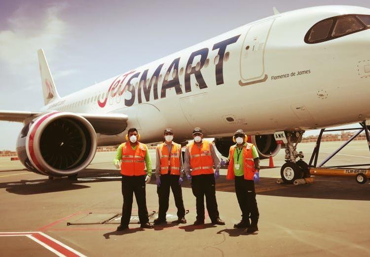 JetSMART realizó este domingo un vuelo especial desde Santiago a Trujillo para repatriar chilenos desde el norte de Perú