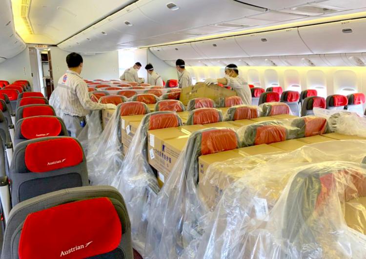 Austrian Airlines convierte la mayoría de su flota en aviones de carga