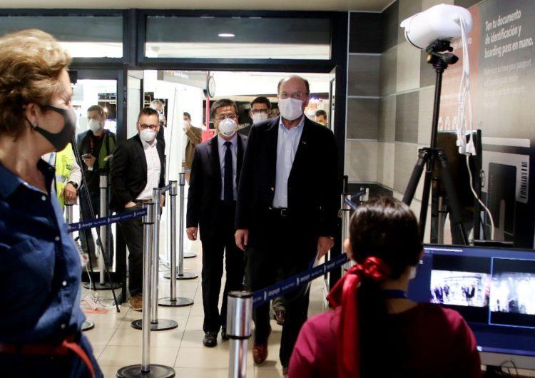Chile: Presentan nuevo sistema de control de temperatura de pasajeros en el Aeropuerto de Santiago