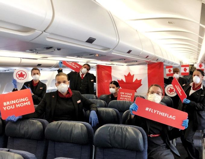 6,600 canadienses regresaron a casa de la mano de Air Canada