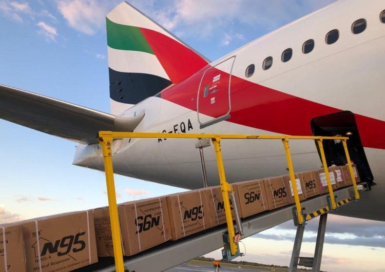 Vuelo especial de Emirates a Ezeiza para transporte de carga