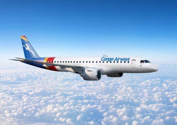 Congo Airways altera pedido do Embraer E175 para E190-E2