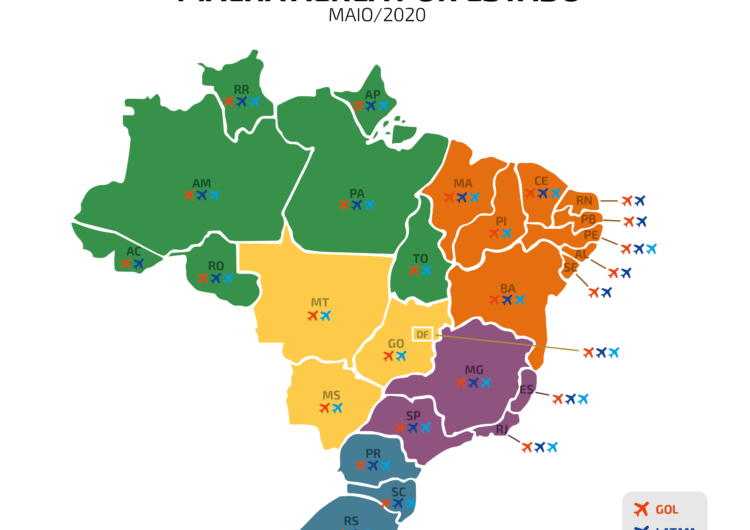 Malha aérea essencial prevista para maio atenderá 44 cidades brasileiras