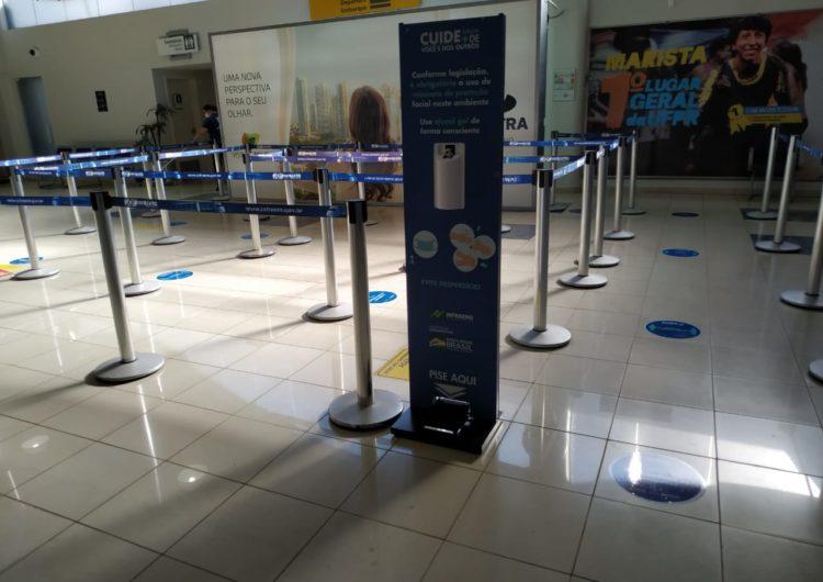 Aeroporto de Londrina adota novas medidas de proteção definidas pela Anvisa contra o covid-19