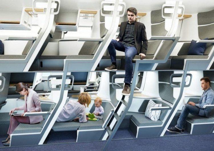 Una startup de EEUU diseña asientos de dos pisos para la aviación comercial
