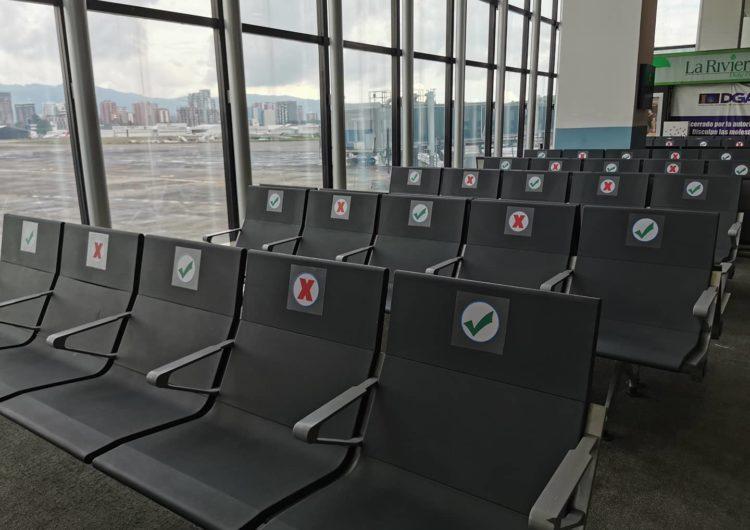 Guatemala: Se inician trabajos de marcación para distanciamiento social en aeropuerto La Aurora