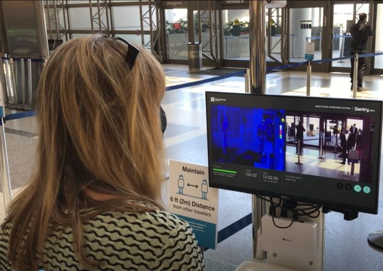 LAX installs thermal cameras for temperature screenings