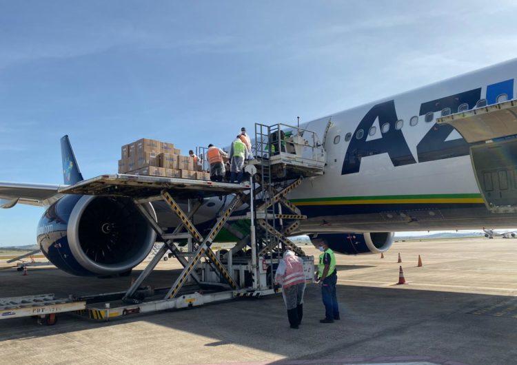 Azul Cargo traz 3,2 milhões de testes de Covid-19 para Brasil, Argentina, Peru e Chile