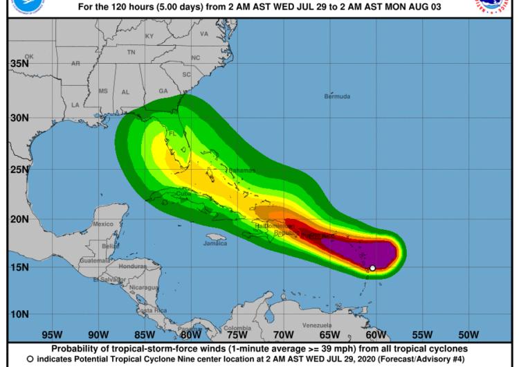 Isaías pone en alerta a todas las islas del Caribe