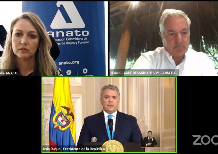 Colombia: el presidente escuchó los reclamos de las agencias de viajes
