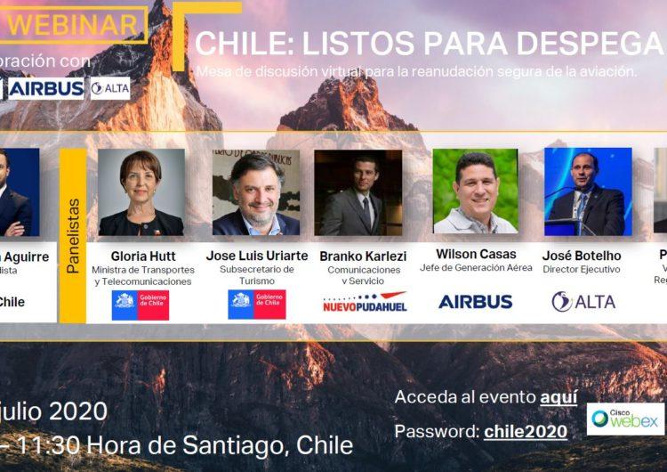 Chile: Gobierno e industria conversarán sobre protocolos de bioseguridad para reinicio seguro de la aviación
