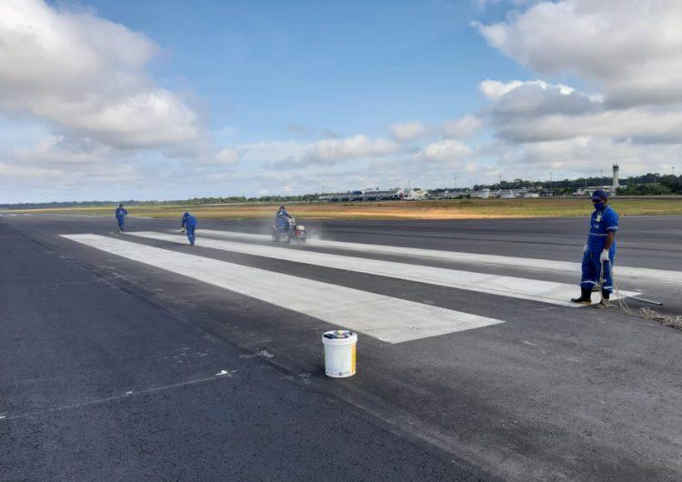 Infraero conclui última etapa das obras na pista do Aeroporto de Manaus
