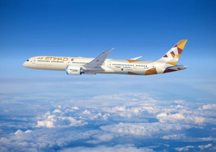 Boeing and Etihad Broaden Sustainability Alliance by Testing Innovations on ecoDemonstrator 787