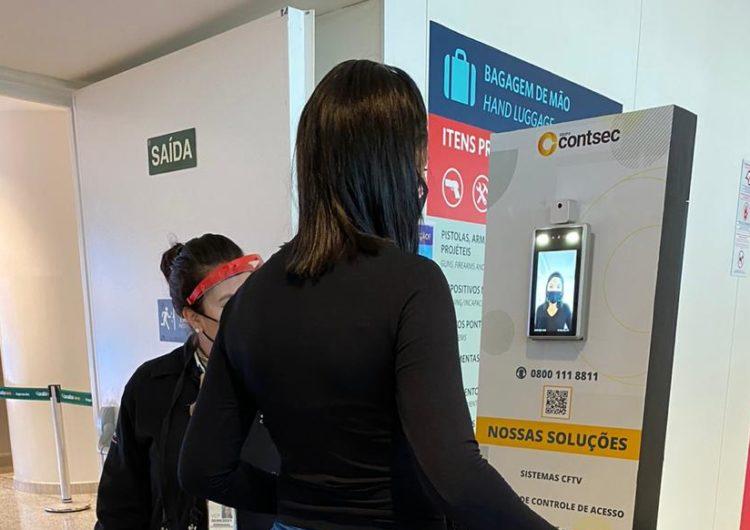 Câmera térmica mede temperatura de passageiros em Viracopos