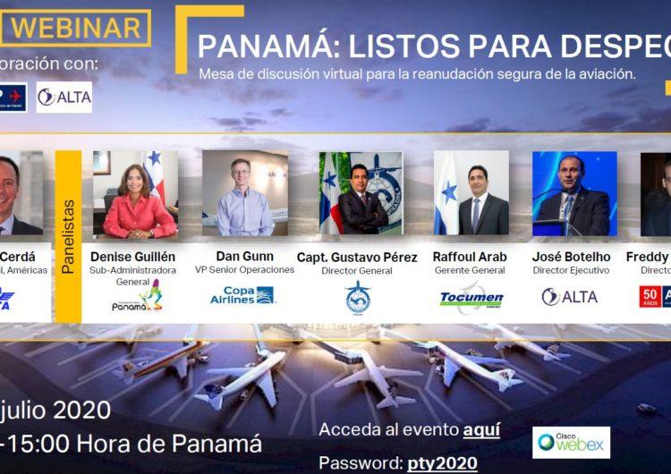Representantes de Gobierno e industria aérea participan hoy en Webinar para mostrar que la aviación está lista para despegar