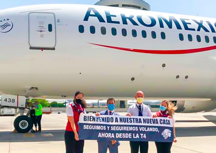 Aeroméxico muda sus operaciones en Madrid a la Terminal 4 del Aeropuerto Madrid Barajas