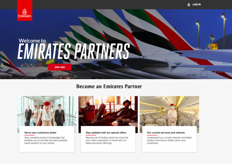 Emirates lanza portal a medida para socios comerciales