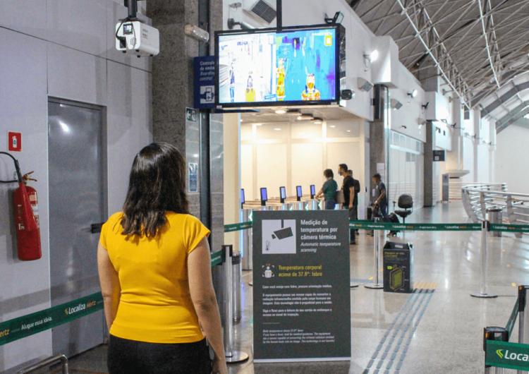 Fortaleza Airport implanta medição de temperatura por câmera térmica
