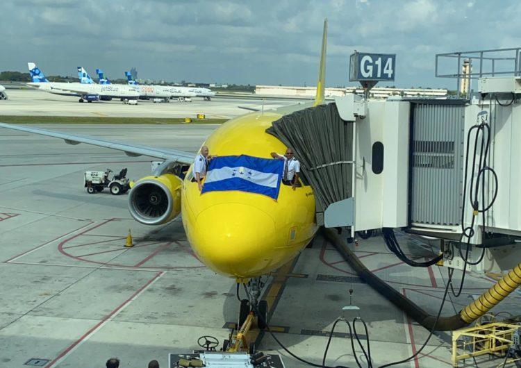 Spirit Airlines reinicia vuelos comerciales en San Pedro Sula hacia Fort Lauderdale y Houston
