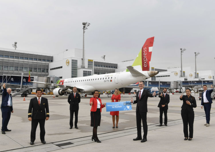 TAP Air Portugal starts again from Munich to the Portuguese capital twice daily