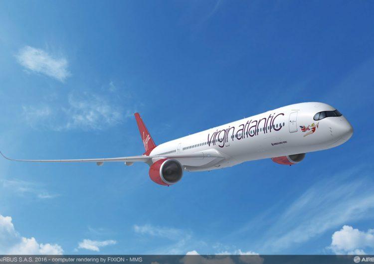 Virgin Atlantic le da la bienvenida a su quinto A350-1000