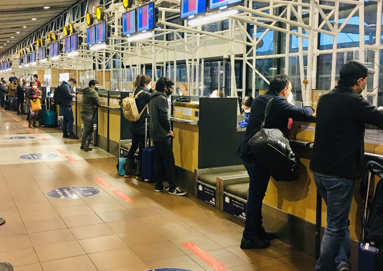 Chile: Informe aeronáutico muestra disminución de 70% en los pasajeros transportados durante enero