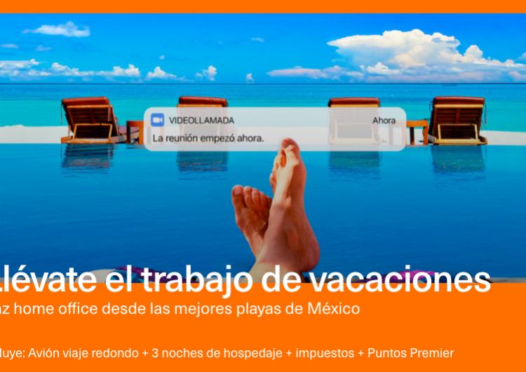 """Gran Plan de Aeroméxico lanza """"Home office"""" en la playa"""