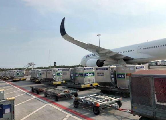 DSV y LATAM Cargo completan exitoso transporte de 110 containers C-SAFE RKN con medicinas
