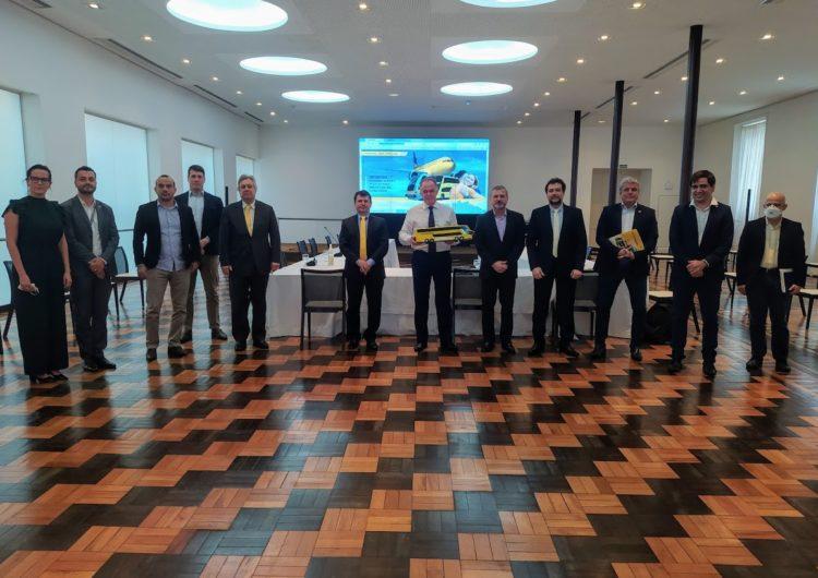 Representantes do Grupo Zurich e Itapemirim se reúnem com o governador para alinhar início das operações da nova cia aérea