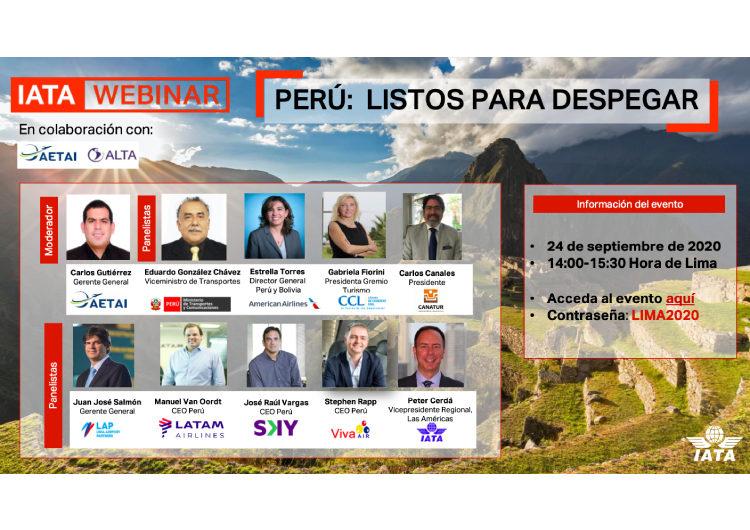Webinar 'Perú: Listos para Despegar' analizará las acciones que se están realizando para asegurar una reactivación segura, rápida y ordenada en el país