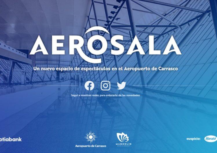 """El Aeropuerto de Carrasco y Magnolio Media Group inauguran el espacio de espectáculos """"AeroSala"""""""