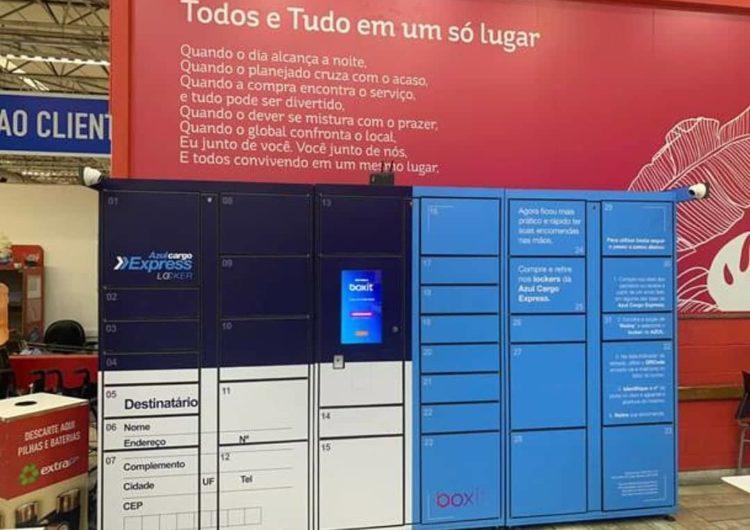 Azul lança sistema de retirada automática de encomendas em lockers