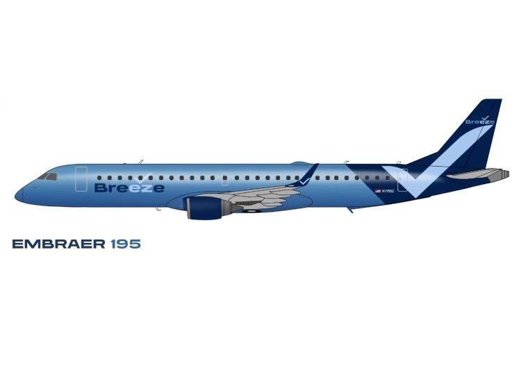 Transfiere Azul aviones a Breeze Airways