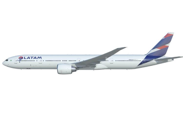 Latam planeja operar B777 em quatro rotas nacionais em novembro