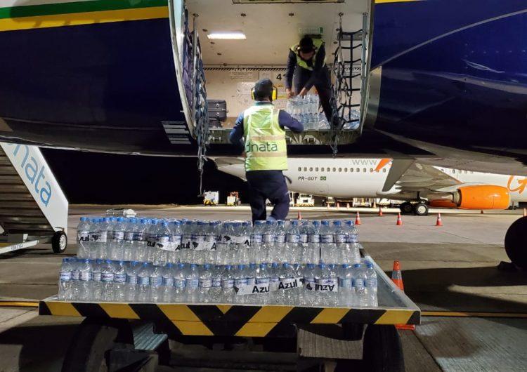 Voluntários da Azul em Belém arrecadam 22 toneladas de mantimentos para o Amapá