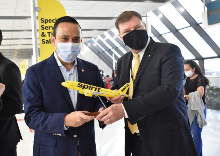 Spirit Airlines inaugura el primer vuelo directo entre Bucaramanga y Estados Unidos