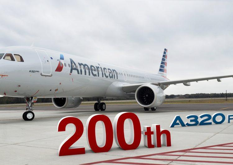 Entrega Airbus el A320 número 200 construido en EUA