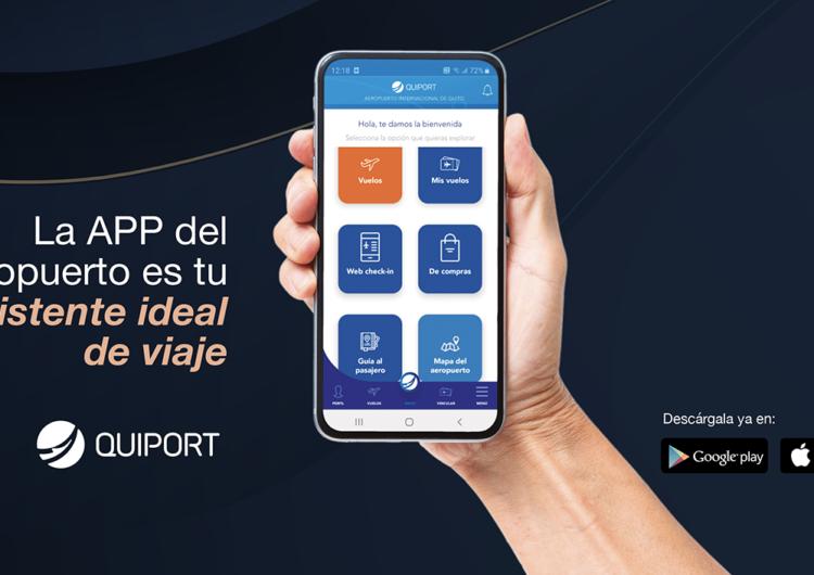 Aeropuerto de Quito presenta su nueva aplicación para teléfonos inteligentes
