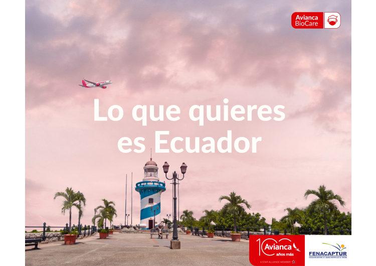 """Avianca y Fenacaptur firman alianza """"Lo que quieres es Ecuador"""" para incentivar el turismo interno"""