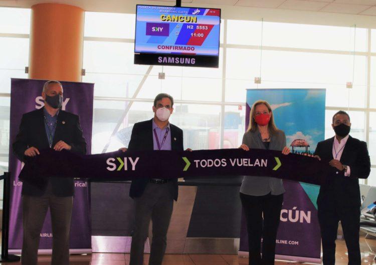 SKY Airline inaugura vuelos desde Lima hacia Cancún