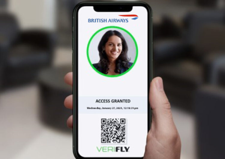 British Airways becomes the first uk airline to trial the use of mobile travel health passport, VeriFLY