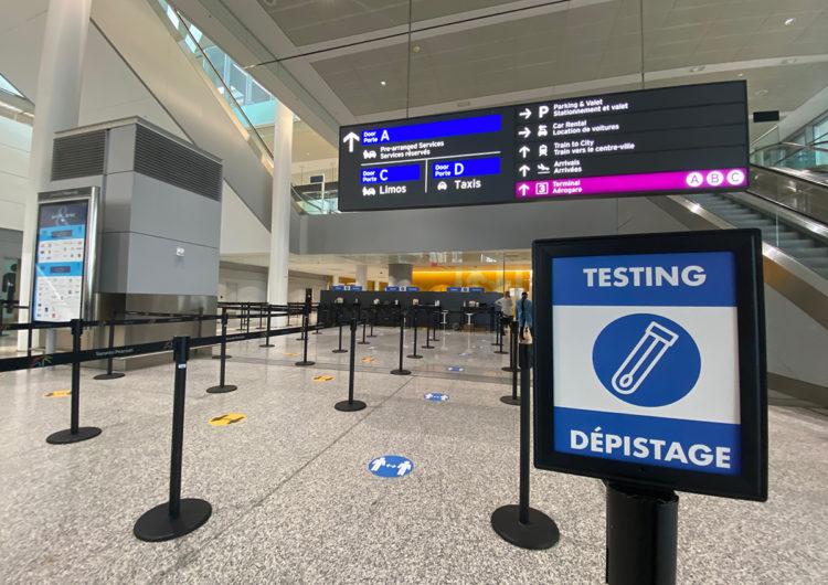Ontario launches free, voluntary COVID-19 testing program at Toronto Pearson Airport
