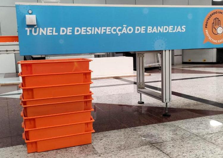 Salvador Bahia Airport cria túnel de desinfecção para acelerar higienização de bandejas