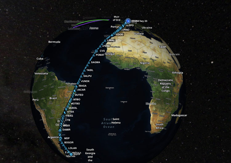 Lufthansa realiza un vuelo récord de 13.700 kilómetros sin escalas