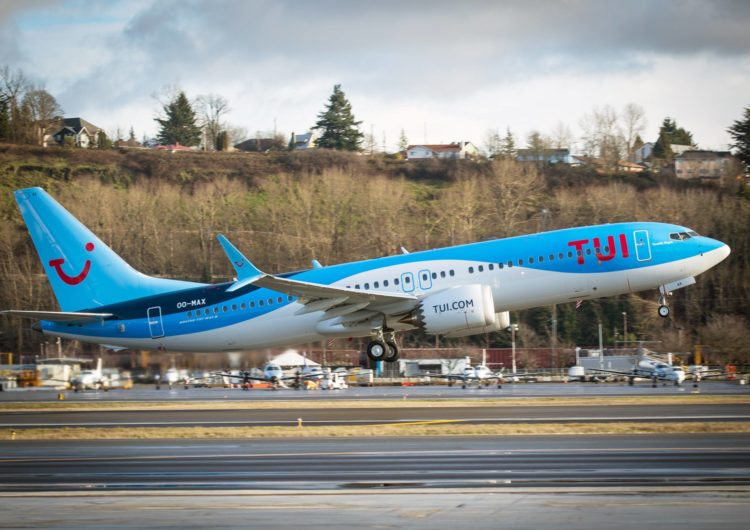 TUI fly first in Europe to operate flights on Boeing 737 MAX