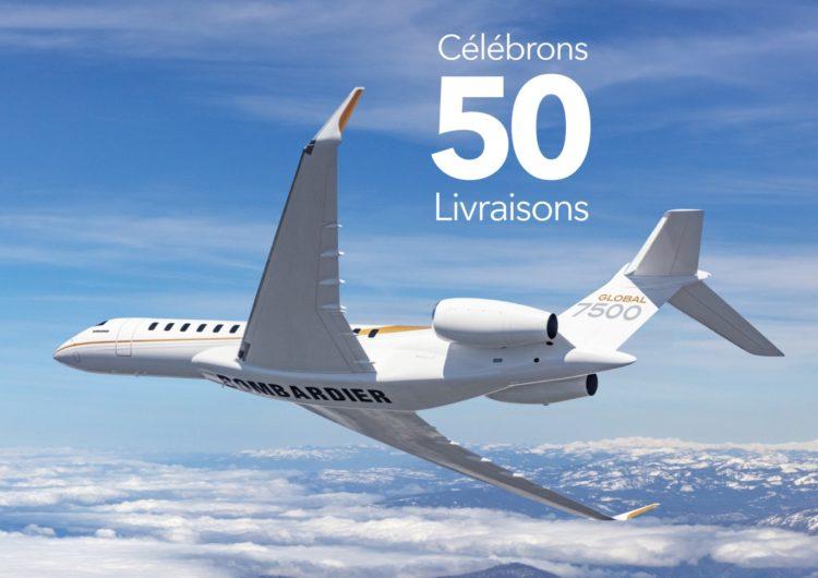 Bombardier entregó el Global 7500 número 50