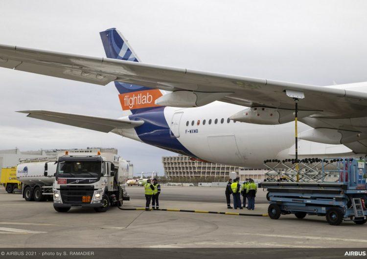 Airbus, DLR, Rolls-Royce y Neste lanzan el primer estudio de emisiones en vuelo con combustible 100% sostenible