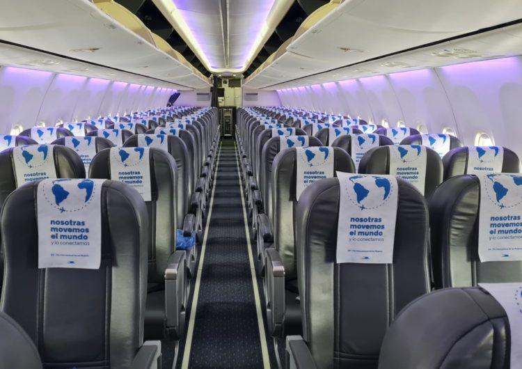 El día internacional de las mujeres en los aviones de Aerolíneas
