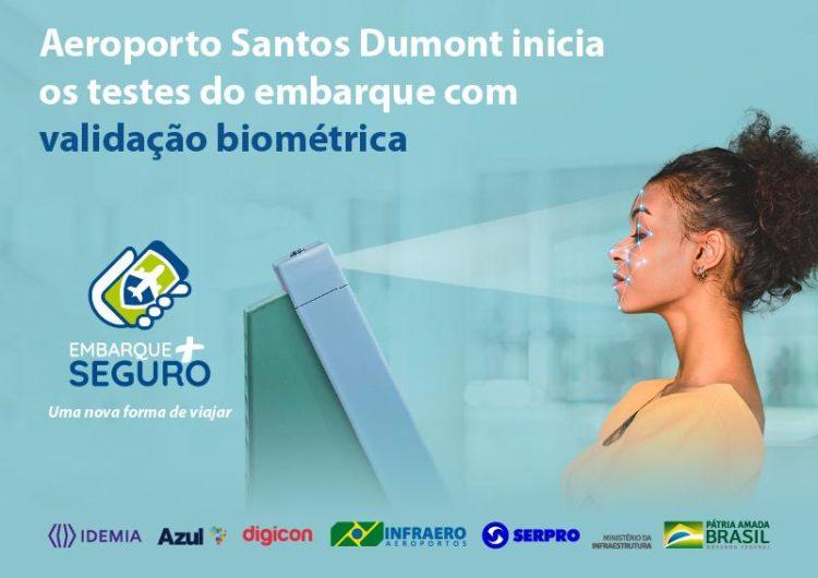 Aeroporto Santos Dumont é o primeiro do país a testar o embarque 100% digital