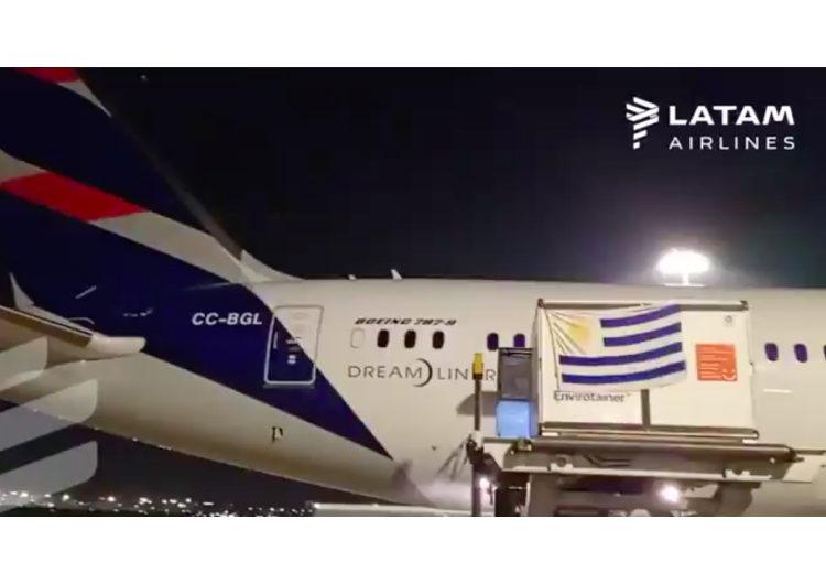 """""""Es un orgullo como piloto poder ofrecer esta tremenda solución"""": el diálogo en el arribo de las vacunas a Uruguay"""